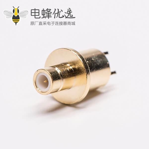SMB母头公针镀金直式穿孔射频同轴连接器