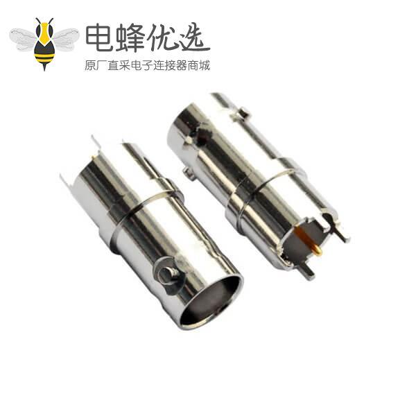 连接器bnc 直式引脚射频同轴 PCB板