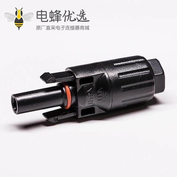 光伏连接器的公头直式Mc4接线防水