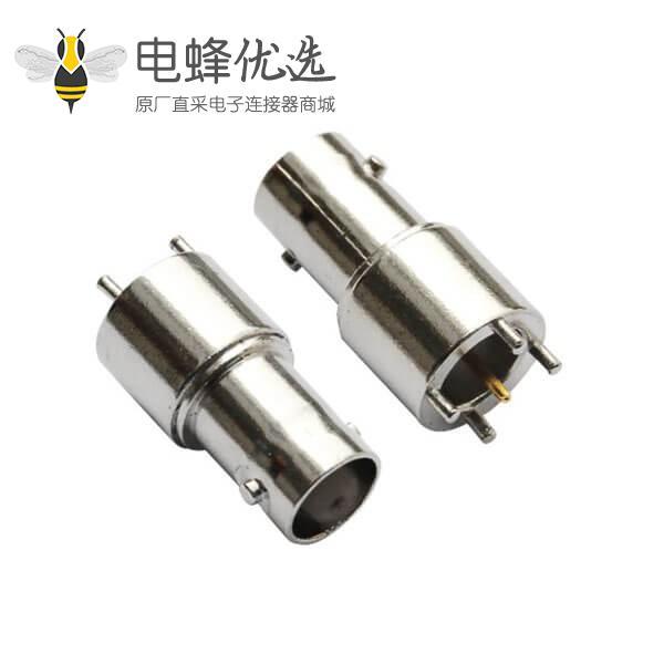 bnc 连接器 射频同轴直式母头锌合金 PCB电路板