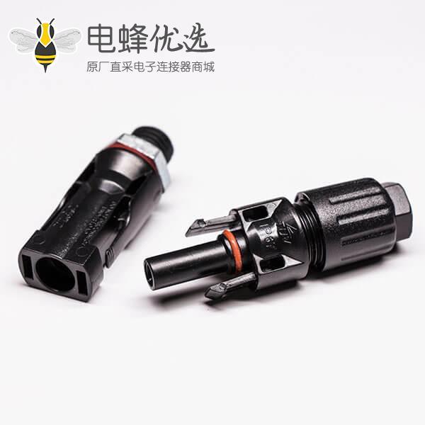 公母头Mc4光伏电缆连接器防水