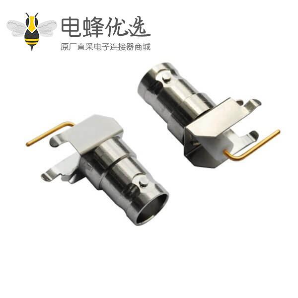 bnc射频同轴连接器 弯式母头 PCB板端