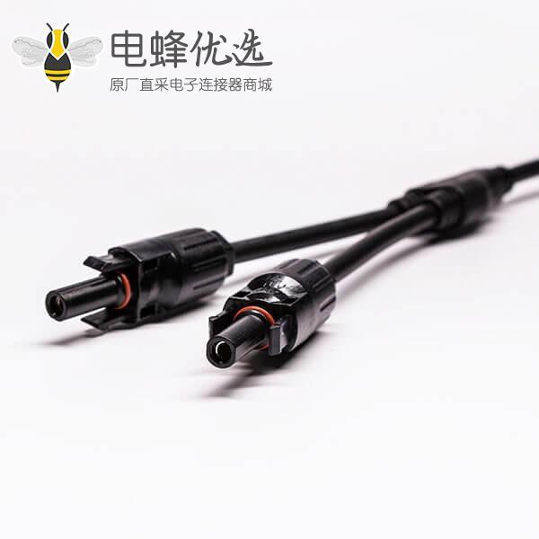 Mc4光伏线接头三通防水连接器