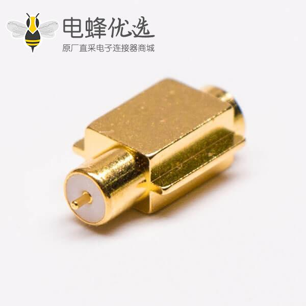 MCX90度母座沉板式镀金同轴连接器