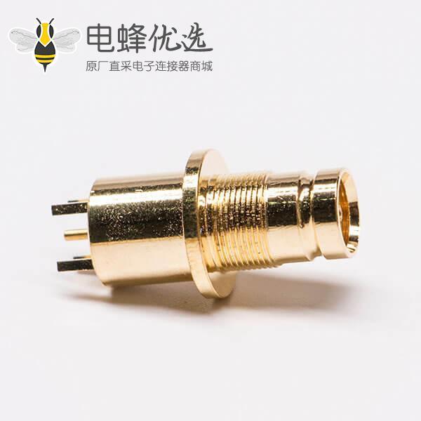 镀金1.6/5.6母头DIN射频连接器接pcb板