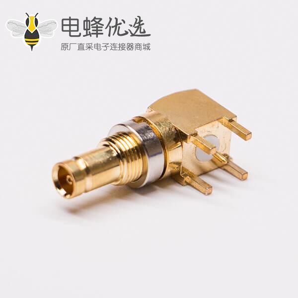 din型射频连接器1.0/2.3母头90度板端镀金