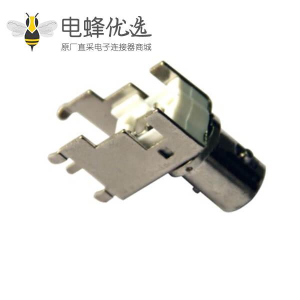 板端连接器PCB 弯式母头锌合金 BNC射频同轴