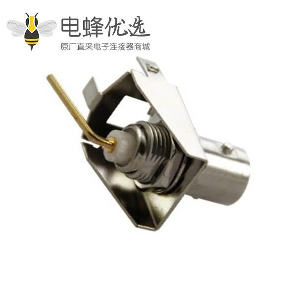 bnc接口板 弯式母头 50欧姆 接PCB板端