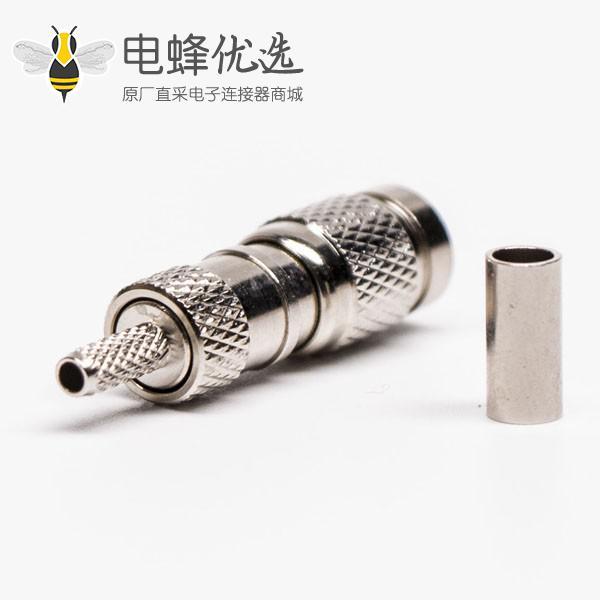 DIN1.0 2.3公头射频同轴连接器直式压接