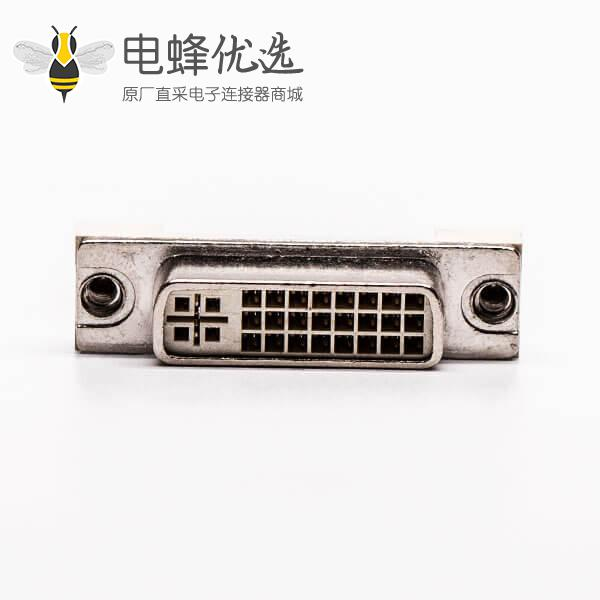 dvi d连接器24+5直式母头带鱼叉插PCB板
