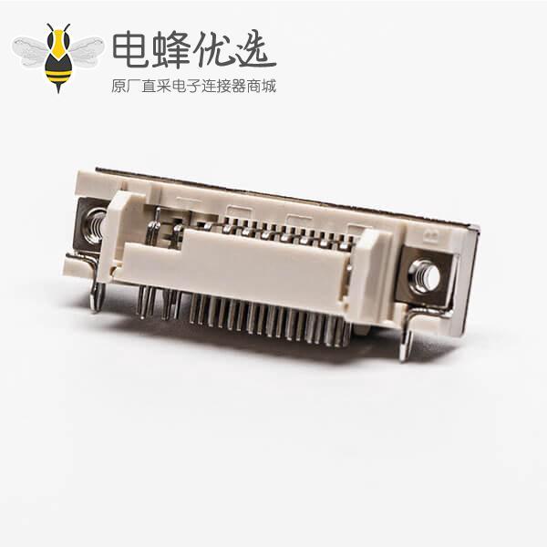 dvi接口24+5弯角母头插板带鱼叉白色胶芯