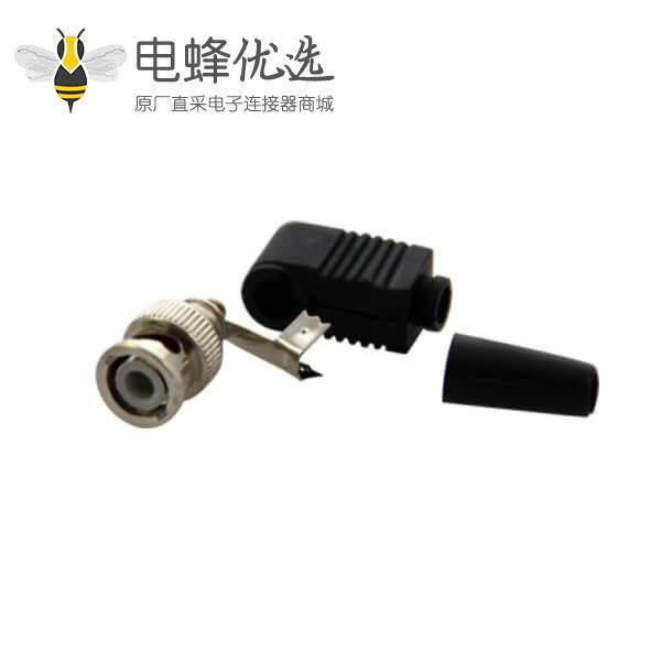 BNC射频同轴弯式公头 电缆连接器