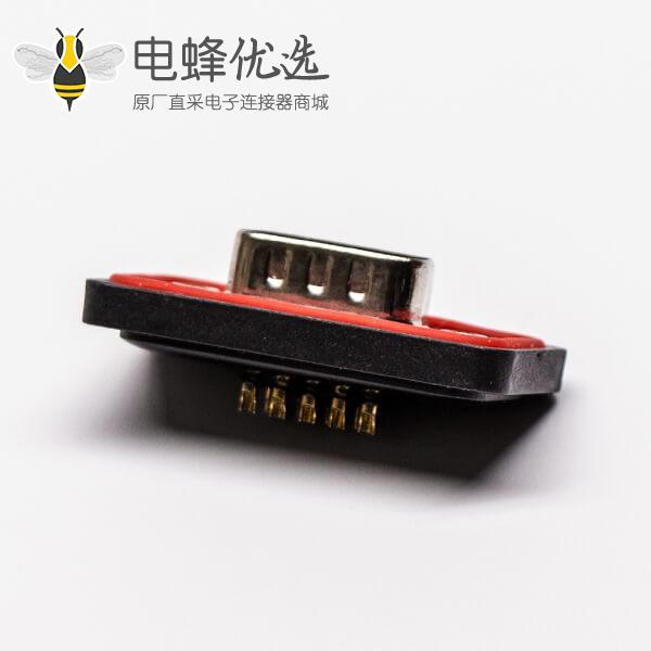 db9防水接头IP67公头双排车针接线焊接