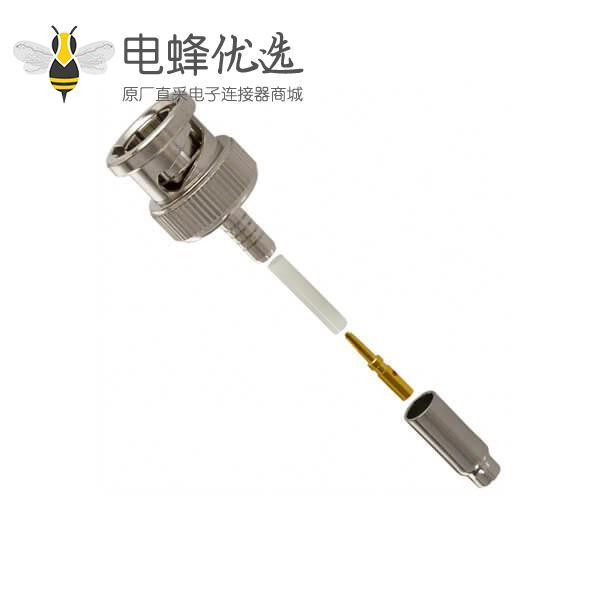 压接式连接器 直式公头BNC同轴射频