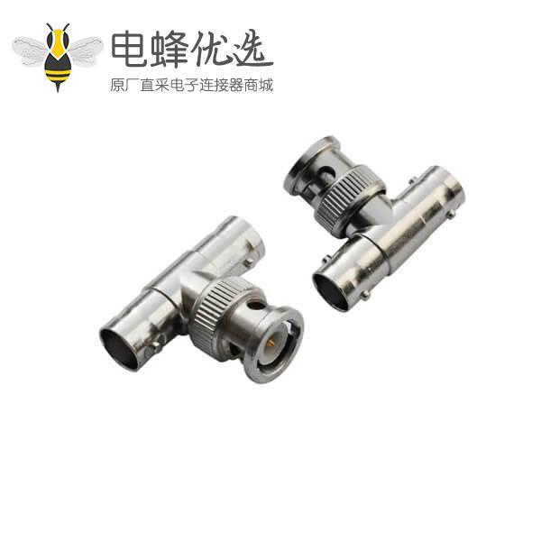 bnc 公头T型转接头射频同轴连接器