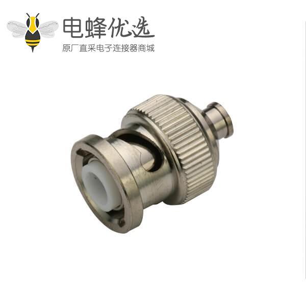 同轴线 焊接直式锌合金50欧姆 公头 BNC连接器