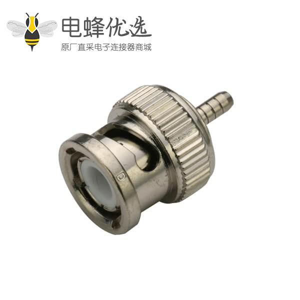 bnc公头焊线式 直式射频同轴电缆连接器