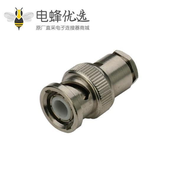 直式射频同轴BNC 50欧姆公头 电缆连接器