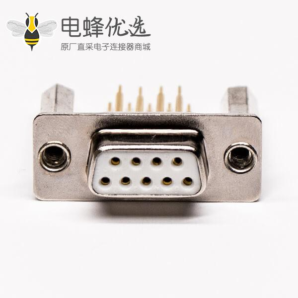 d sub9母头直式插板加高型铆锁接PCB板
