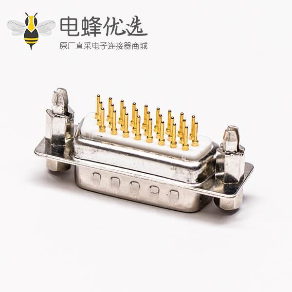db26公头高密度连接器直式铆锁结构穿孔接PCB板