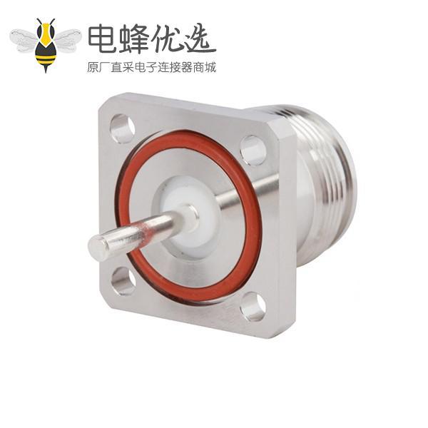 4.3/10连接器直式四孔法兰母插座