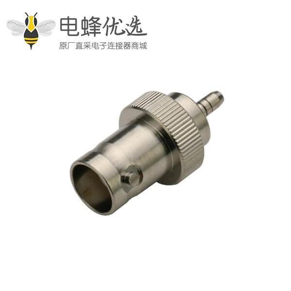 同轴电缆接头压接直式母头BNC连接器