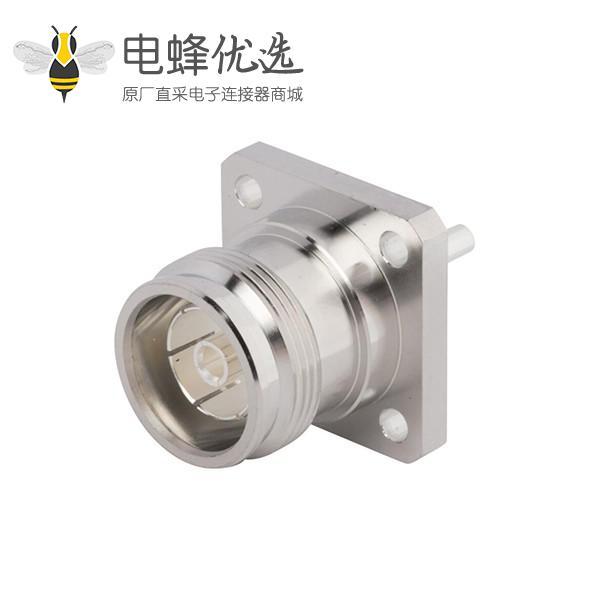 4.3-10接口直式4孔法兰低PIM设计50欧姆