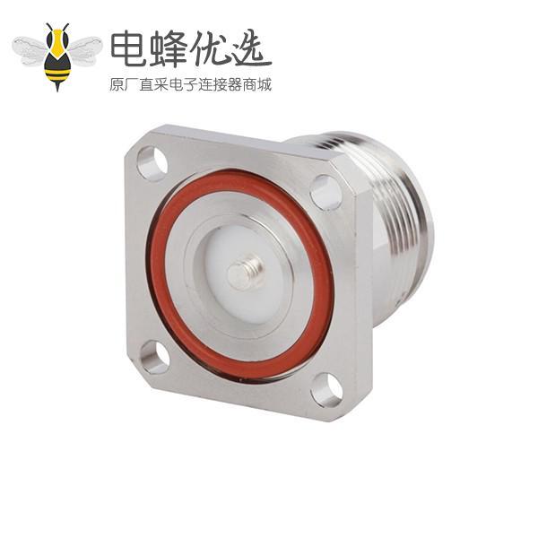 同轴连接器4.3/10四孔法兰直式低PIM设计M3螺纹