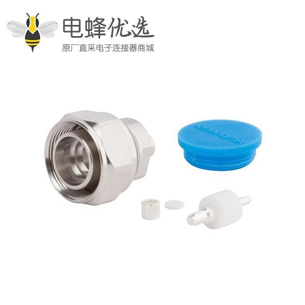 """4.3-10射频连接器公插座直插半硬性低PIM设计接.141""""线"""