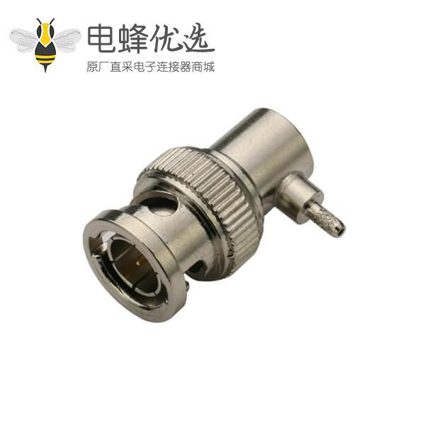 弯式射频同轴线缆BNC50欧公头连接器