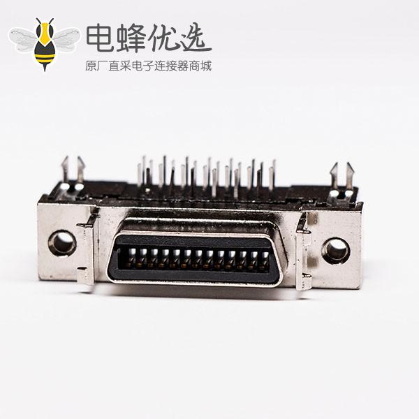 scsi母连接器26针弯式鱼叉脚接PCB板