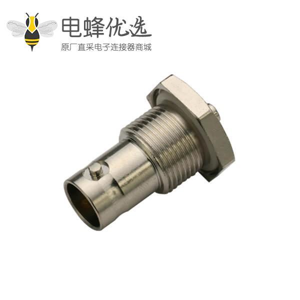 BNC穿墙母头直式射频同轴线缆连接器