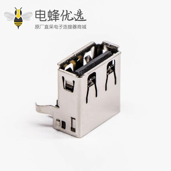 usb type a接口母头弯式插孔接PCB板