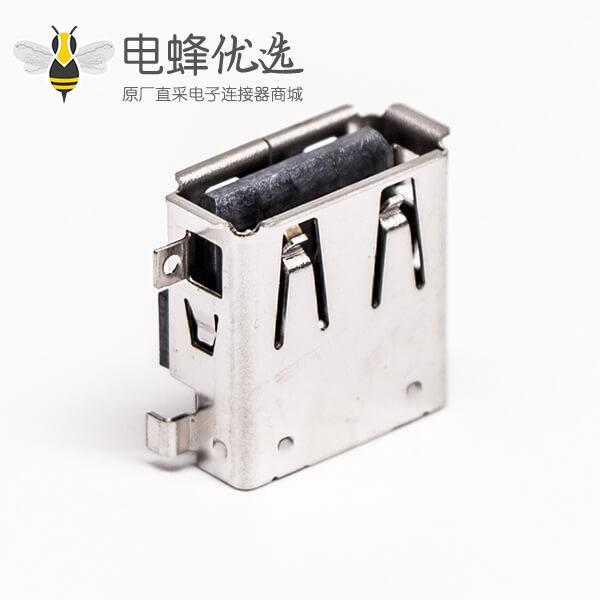 type-a型usb口母头90度短体反向沉板插板