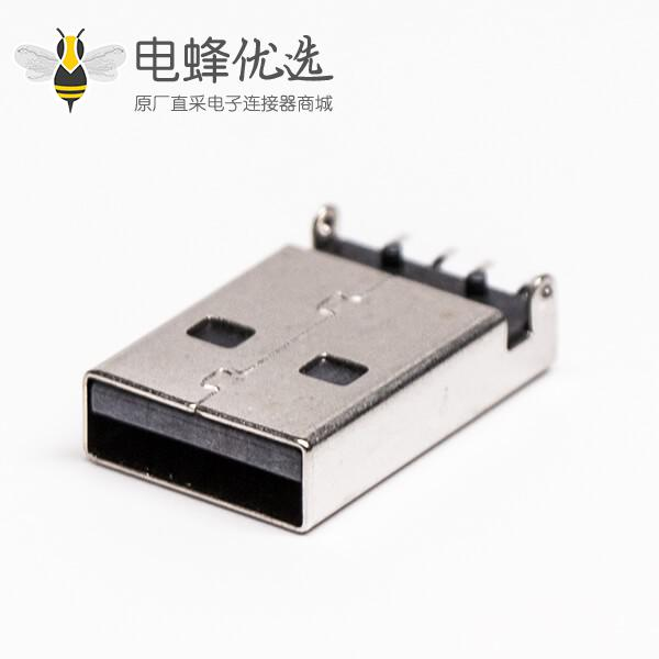 usb2.0沉板封装公头弯式SMT沉板两脚接板