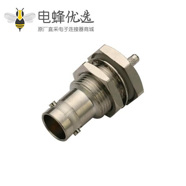 直式BNC穿墙锌合金防水母头射频同轴电缆连接器