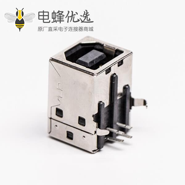 usb type b母座封装弯式DIP插PCB板