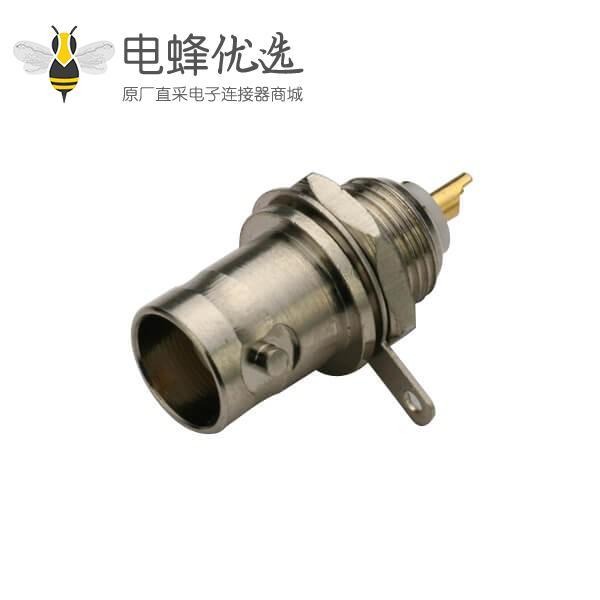 穿墙BNC母头50欧姆锌合金射频同轴连接器