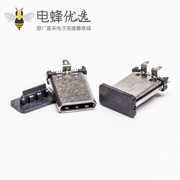 type c 公头直立式SMT贴板插板
