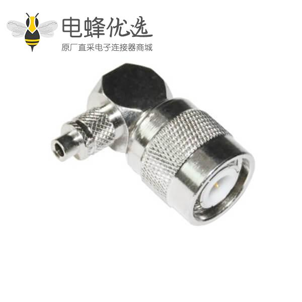 tnc型射频连接器弯式压接公头同轴线缆RG6_58_59_174