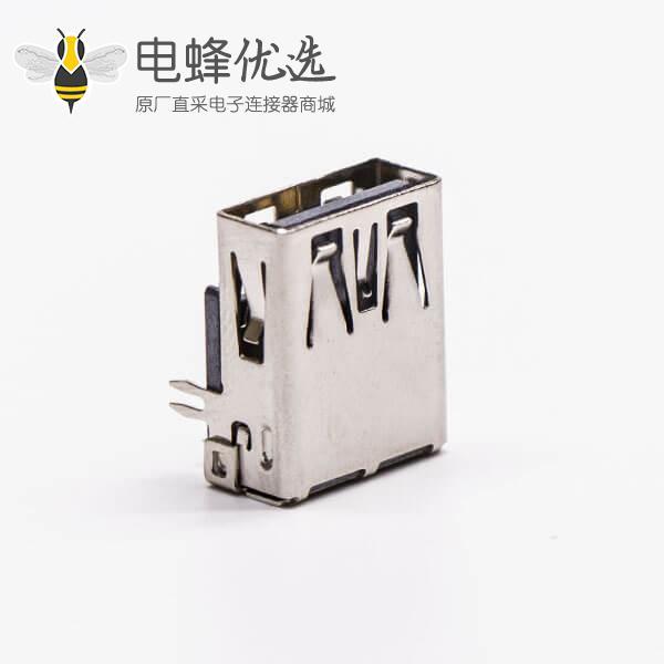 usb3.0母座接口type a弯式塑胶加长型插板带鱼叉脚