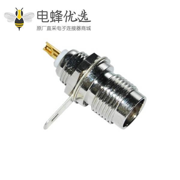 tnc射频连接器直式穿墙式母头 面板安装