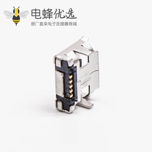 micro usb接口手机5pinB型SMT两脚DIP 7.15