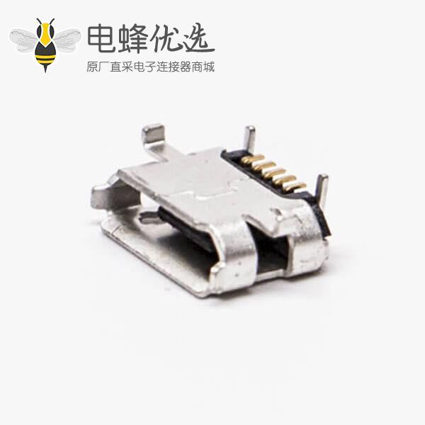 micro usb b接口5针母座SMT牛角型 7.20-4.85