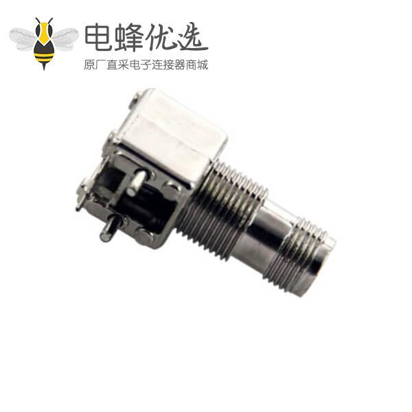 tnc射频连接器穿墙弯式母头 pcb电路板安装