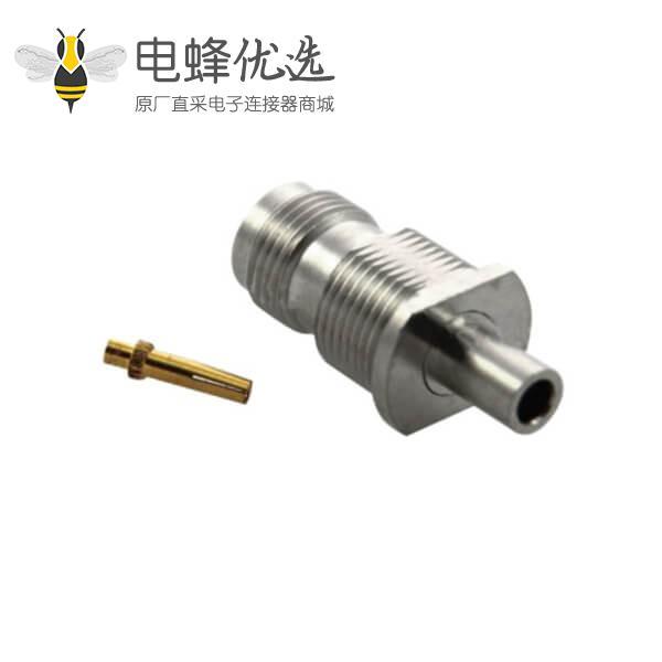 tnc连接器 直式穿墙式母头 焊接同轴线缆