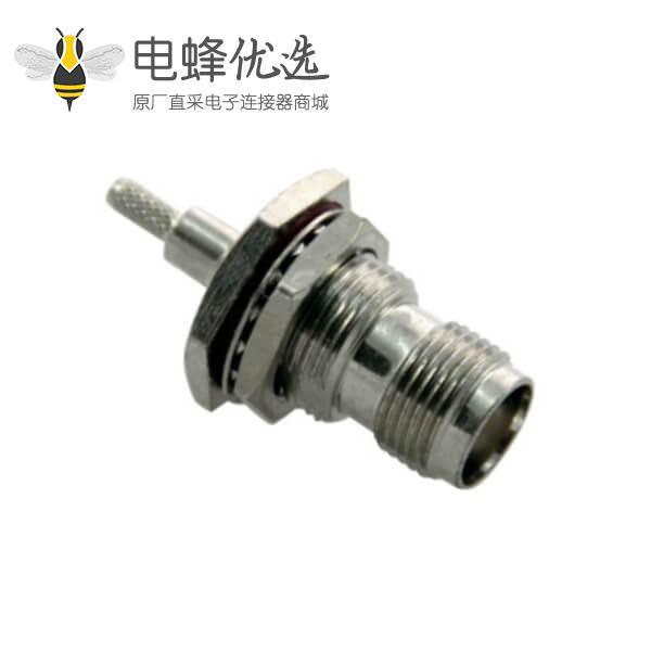 tnc射频连接器 穿墙直式防水母头接线RG6_RG58_RG174