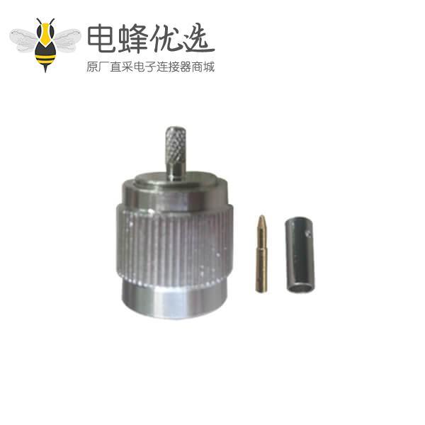 公头接线RG316D直式压接RF射频同轴连接器tnc
