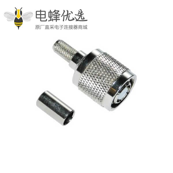 tnc射频连接器 反极直式压接插头 同轴接线RG58_5