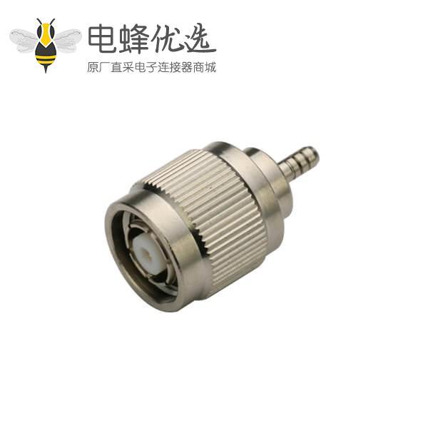 tnc射频连接器反极直式插头压接 同轴线缆 RG400